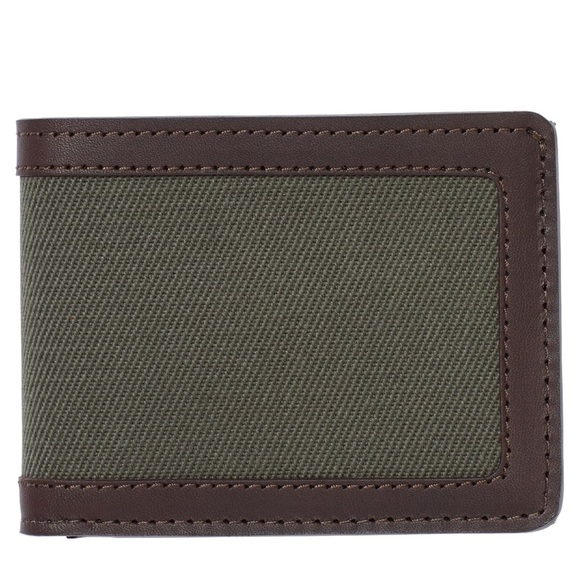 Filson Other - Filson Outfitter Leather & Canvas Bifold Wallet